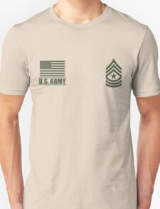 Sergeant Major Infantry US Army Rank by Mision Militar ™ Unisex T-Shirt