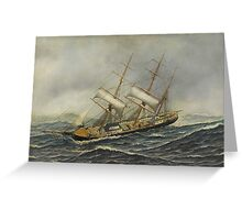Antonio Jacobsen - Sailing Ship St. Mary Greeting Card