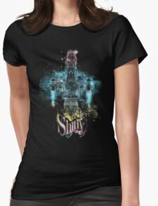 shiny space ship Womens Fitted T-Shirt