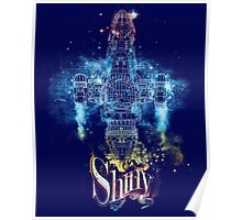 shiny space ship Poster