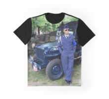 Blue Willys Jeep Graphic T-Shirt