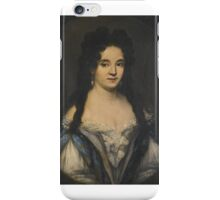 Attributed to Ferdinand Voet PORTRAIT OF A WOMAN WITH LONG BLACK HAIR AND PEARL TRIMMED DRESS iPhone Case/Skin