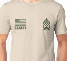 First Sergeant Infantry US Army Rank by Mision Militar ™ Unisex T-Shirt