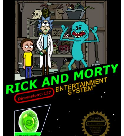 NINTENDO: NES RICK AND MORTY Sticker