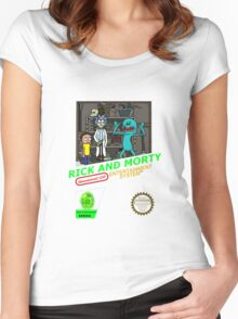 NINTENDO: NES RICK AND MORTY Women's Fitted Scoop T-Shirt