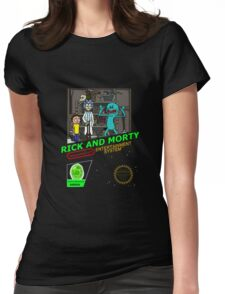 NINTENDO: NES RICK AND MORTY Womens Fitted T-Shirt