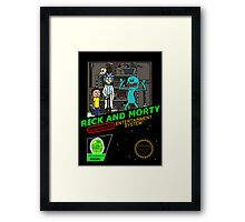NINTENDO: NES RICK AND MORTY Framed Print