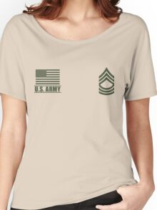Master Sergeant Infantry US Army Rank Desert by Mision Militar ™ Women's Relaxed Fit T-Shirt