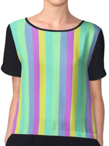 90s Pastel Stripes (Narrow) Chiffon Top