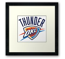 OKC Thunder Framed Print