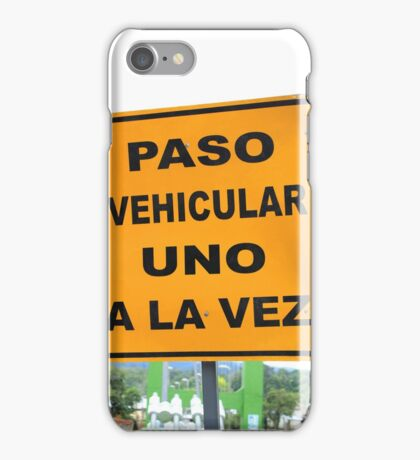 Single Lane Traffic Sign iPhone Case/Skin