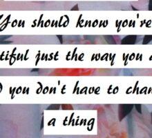 Alessia Cara lyrics- Scars to your beautiful Sticker