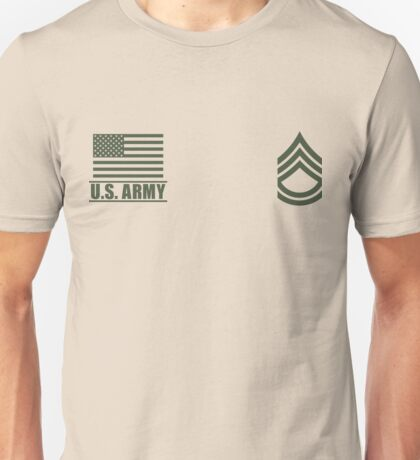 Sergeant First Class Infantry US Army Rank Desert by Mision Militar ™ Unisex T-Shirt