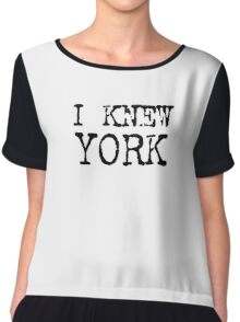 I Knew York - T-shirt, Bag or Tank Top - New York Fashion Tee Chiffon Top