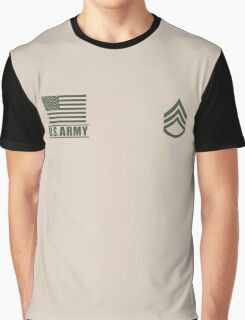 Staff Sergeant Infantry US Army Rank by Mision Militar ™ Graphic T-Shirt