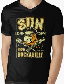 SUN RECORDS : 110% Rockabilly Mens V-Neck T-Shirt