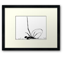 Blobsnail needs coffee Framed Print
