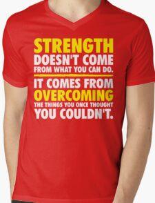 Where Strength Comes From Mens V-Neck T-Shirt