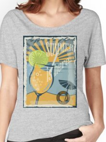 Coctail on the beach, vintage,Summer , see and sun Women's Relaxed Fit T-Shirt