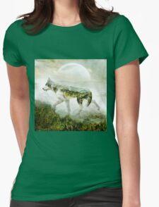 Wolf Mountain Womens Fitted T-Shirt