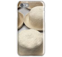 White Knit Hats at the Market iPhone Case/Skin