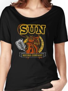 SUN RECORDS : MICROPHONE with ROSTER Women's Relaxed Fit T-Shirt