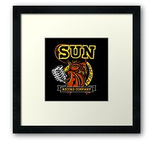 SUN RECORDS : MICROPHONE with ROSTER Framed Print