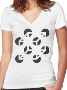 Use Your Illusion | Invert Edition Women's Fitted V-Neck T-Shirt