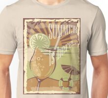 Coctail on the beach, vintage,Summer , see and sun Unisex T-Shirt