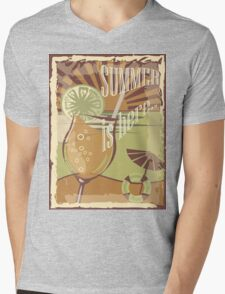 Coctail on the beach, vintage,Summer , see and sun Mens V-Neck T-Shirt