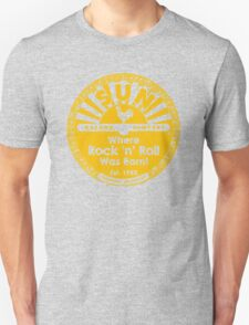 SUN RECORDS : Where rock n roll was born Unisex T-Shirt