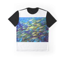 Coral and a school of fish Graphic T-Shirt