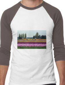 Dutch Tulips in America Men's Baseball ¾ T-Shirt