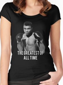 Muhammad Ali, 'The Greatest of All Time',  Women's Fitted Scoop T-Shirt