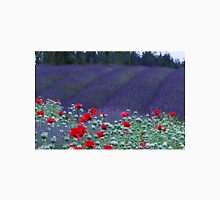 Poppies in the Lavender fields Unisex T-Shirt