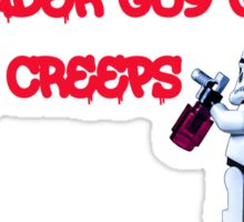 Vader gives us the creeps! Sticker