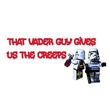 Vader gives us the creeps! Photographic Print
