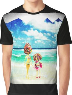 rainbow sprinkles surreal ice cream sisters Graphic T-Shirt