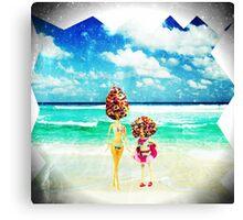rainbow sprinkles surreal ice cream sisters Canvas Print