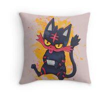 Gammer Litten Throw Pillow