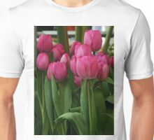 Vibrant pink Tulips Unisex T-Shirt