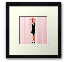 cotton candy woman Elegance  Framed Print