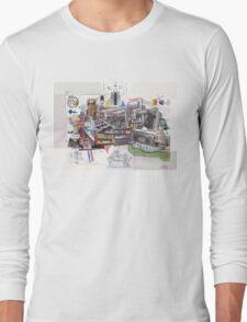 The Media Photomontage Long Sleeve T-Shirt