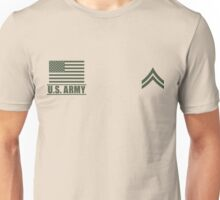 Corporal Infantry US Army Rank by Mision Militar ™ Unisex T-Shirt