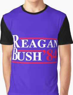 Reagan Bush '84 Retro Logo Graphic T-Shirt