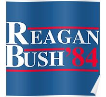 Reagan Bush '84 Retro Logo Red White Blue Election Ronald George 1984 84 Poster