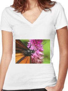 Close-Up Women's Fitted V-Neck T-Shirt