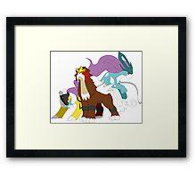 Pokemon - Legendary Beasts Framed Print