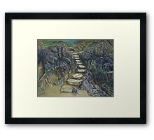 Steps to the Unknown Framed Print