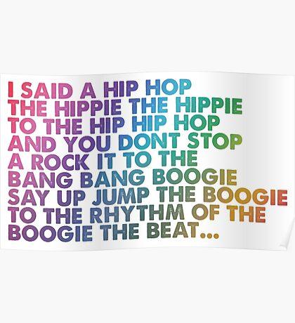 I said a Hip Hop Poster